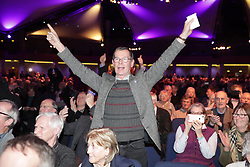 © Licensed to London News Pictures . 17/02/2018. Birmingham, UK. Henry Bolton loses as the result of a vote on whether to retain or dismiss Bolton as leader is declared . The NEC of UKIP meet to decide leader Henry Bolton's fate as leader following a racism row over his girlfriend Jo Marney and controversy over his claimed qualifications whilst serving in the military . Photo credit: Joel Goodman/LNP