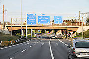 Spanish Highway Photographed in Barcelona Catalonia, Spain