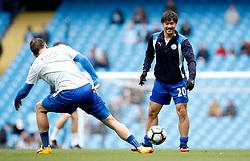 Shinji Okazaki of Leicester City warms up with Danny Drinkwater - Mandatory by-line: Matt McNulty/JMP - 13/05/2017 - FOOTBALL - Etihad Stadium - Manchester, England - Manchester City v Leicester City - Premier League