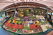 The Naschmarkt, Vienna's biggest market. Vegetables.