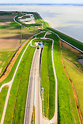 Nederland, Zeeland, Zuid-Beveland, 09-05-2013; noordelijke ingang Westerscheldetunnel met N62.<br /> Ten westen van Ellewoutsdijk Zak van Zuid-Beveland.<br /> Northern entrance Westerschelde tunnel.<br /> luchtfoto (toeslag op standard tarieven);<br /> aerial photo (additional fee required);<br /> copyright foto/photo Siebe Swart.