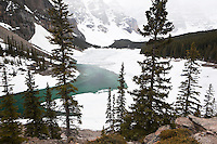 Moraine Lake During Spring Season, Banff National Park, Alberta, Canada