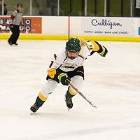 1st year forward Martina Maskova (11) of the Regina Cougars in action during the Women's Hockey home game on December 1 at Co-operators arena. Credit: Arthur Ward/Arthur Images