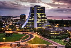 Vista aérea do Centro Administrativo Fernando Ferrari, em Porto Alegre. FOTO: Jefferson Bernardes/Preview.com