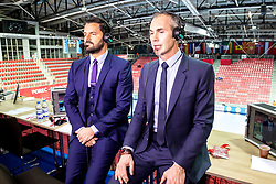16.01.2018, Zatika Sport Centre, Porec, CRO, EHF EM, Herren, Interview mit Francois-Xavier Houlet, Gruppe B, im Bild Thomas Villechaize, Francois-Xavier Houlet // during an interview with Francois-Xavier Houlet during the EHF men's Handball European Championship at the Zatika Sport Centre in Porec, Croatia on 2018/01/16. EXPA Pictures © 2018, PhotoCredit: EXPA/ Sebastian Pucher