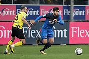 (L-R) *Roel Janssen* of VVV Venlo, *Alireza Jahanbakhsh* of AZ Alkmaar