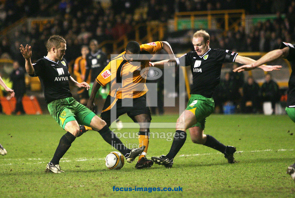 Wolverhampton - Tuesday February 3rd, 2009: Sylvan Ebanks-Blake of Wolverhampton Wanderers scores the third goal against Norwich City to make it 3-2 during the Coca Cola Championship match at Molineaux, Wolverhampton. (Pic by Chris Ratcliffe/Focus Images)