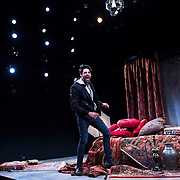 """July 10, 2015 - New York, NY : Karan Oberoi performs in a dress rehearsal for Portland Center Stage<br /> and A Contemporary Theatre (ACT)'s presentation of Yussef El Guindi's """"Threesome"""" at 59E59 on Friday evening. CREDIT: Karsten Moran for The New York Times"""