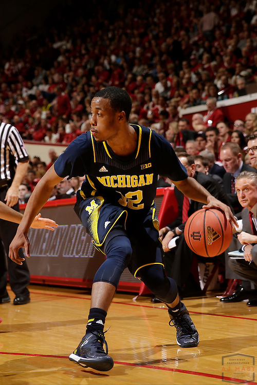 Michigan guard Duncan Robinson (22) as Michigan played Indiana in an NCCA college basketball game in Bloomington, Ind., Sunday, Feb. 8, 2015. (AJ Mast / Photo))