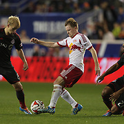 Dax McCarty, New York Red Bulls, in action during the New York Red Bulls Vs Toronto FC, Major League Soccer regular season match at Red Bull Arena, Harrison, New Jersey. USA. 11th October 2014. Photo Tim Clayton