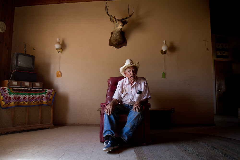 New Mexico pistachio farmer Tom Carillo, 90 years old, lives about 30 km from the nearest city.