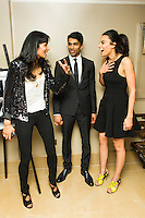 Nisha Parti, Nikesh Patel and Aiysha Hart, Honour - UK Gala Screening, The Mayfair Hotel, LONDON, 31st March 2014, Photo by Raimondas Kazenas
