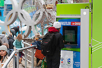 Kiosks throughout Whistler Village allow visitors to send emails to friends and relatives during the 2010 Olympic Winter Games.
