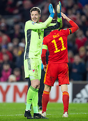 CARDIFF, WALES - Tuesday, November 19, 2019: Wales' goalkeeper Wayne Hennessey after the final UEFA Euro 2020 Qualifying Group E match between Wales and Hungary at the Cardiff City Stadium where Wales won 2-0 and qualified for Euro 2020. (Pic by Laura Malkin/Propaganda)