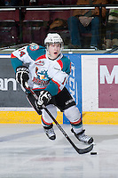 KELOWNA, CANADA - JANUARY 26: Rourke Chartier #14 of the Kelowna Rockets skates on the ice against the Prince Albert Raiders at the Kelowna Rockets on January 26, 2013 at Prospera Place in Kelowna, British Columbia, Canada (Photo by Marissa Baecker/Shoot the Breeze) *** Local Caption ***