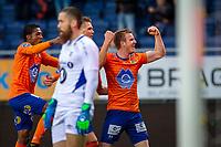 1. divisjon fotball 2018: Aalesund - Tromsdalen. Aalesunds Torbjørn Agdestein (t.h.) feirer 1-0 i førstedivisjonskampen i fotball mellom Aalesund og Tromsdalen på Color Line Stadion.