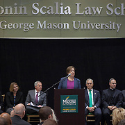 United States Supreme Court Justice, Elena Kagan spoke during the Antonin Scalia Law School Dedication, at the Antonin Scalia School of Law, Arlington, VA, Thursday, October 6, 2016.