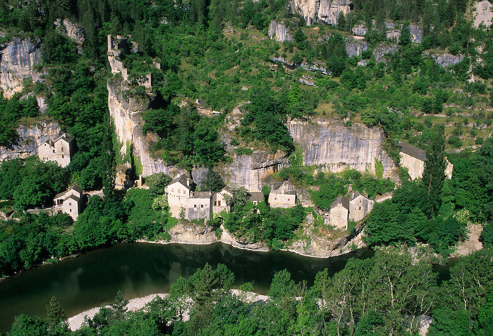 France, Languedoc Rousillon, Lozère, Cevennes, Gorges du Tarn, village de Castelbouc