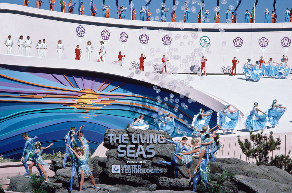 The Living Seas Aquarium opening ceremony at EPCOT January 15, 1986 Buena Vista, FL