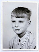 school memory portrait image of a young boy 1970s