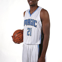 Orlando Magic forward Maurice Harkless poses for the camera during the NBA Orlando Magic media day event at the Amway Center on Monday, September 29, 2014 in Orlando, Florida. (AP Photo/Alex Menendez)