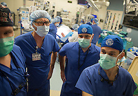 Duke's first hand transplant is performed on May 27, 2016. Led by surgeon Dr. Linda Cendales, two teams worked to attach a donor hand and forearm onto the left arm of Rene Chavez, 54. Chavez, who lives in Laredo, Texas, lost his hand in an accident when he was four-years-old.<br /> <br /> Shawn Rocco/Duke Health