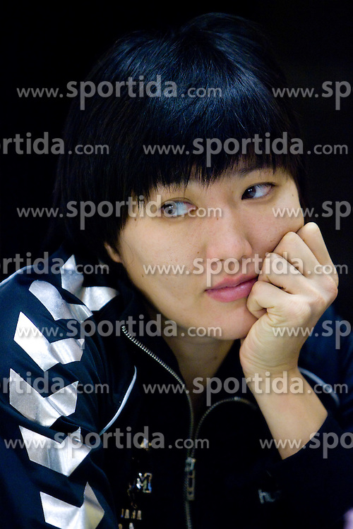Ljudmila Bodnjeva at press conference of women handball club RK Krim Mercator,  on October 20, 2009, in M Hotel, Ljubljana, Slovenia.   (Photo by Vid Ponikvar / Sportida)