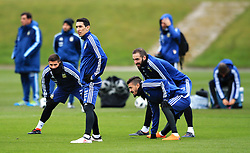 Argentina's Angel di Maria and teammates - Mandatory by-line: Matt McNulty/JMP - 21/03/2018 - FOOTBALL - Argentina - Training session ahead of international against Italy