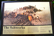 Interpretive sign at the historic Lewis and Clark Salt Works in Seaside, Fort Clatsop National Memorial, Oregon