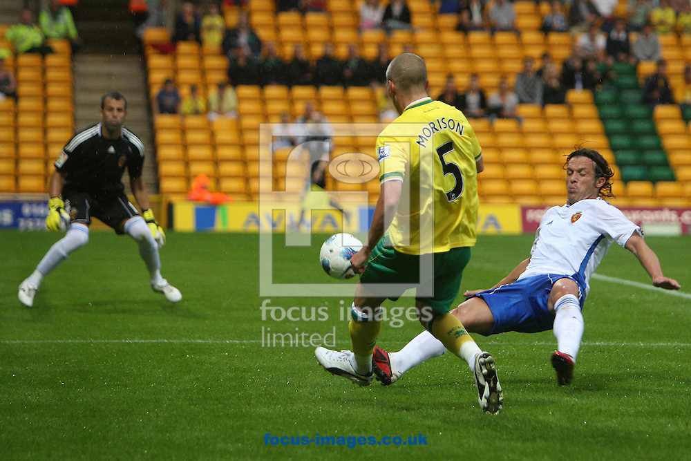 Steve Morison of Norwich crosses the ball during a pre season friendly at Carrow Road stadium, Norwich...Picture by Paul Chesterton/Focus Images Ltd.  07904 640267.3/8/11