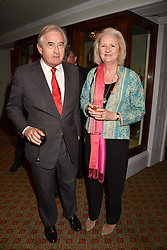 Antony Beevor and Artemis Cooper at a party to celebrate the publication of Resolution by The Duke of Rutland and Emma Ellis held at Trinity House, Tower Hill, London England. 10 April 2017.