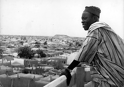 Kano, Nigeria - A Kano citizen surveys the city from a Minaret of the Great Mosque (Credit Image: © Keystone Pictures USA/ZUMAPRESS.com)