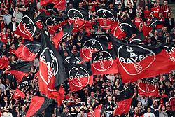 10.04.2016, Rhein Energie Stadion, Koeln, GER, 1. FBL, 1. FC Koeln vs Bayer 04 Leverkusen, 29. Runde, im Bild Fans von Bayer 04 Leverkusen // during the German Bundesliga 29th round match between 1. FC Cologne and Bayer 04 Leverkusen at the Rhein Energie Stadion in Koeln, Germany on 2016/04/10. EXPA Pictures © 2016, PhotoCredit: EXPA/ Eibner-Pressefoto/ Hommes<br /> <br /> *****ATTENTION - OUT of GER*****