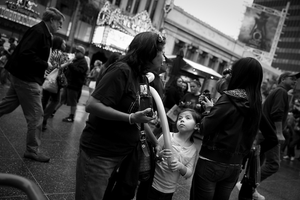 Girl with balloon, Hollywood.