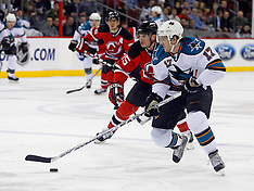 February 20, 2008: San Jose Sharks at New Jersey Devils