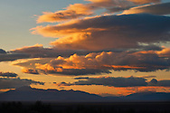 Storm clouds at sunrise over the Honey Valley, near Susanville, Lassen County, California