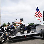 A customized trike participating in the annual Rolling Thunder motorcycle rally through downtown Washington DC on May 29, 2011. This shot was taken as the riders were leaving the staging area in the Pentagon's north parking lot, where thousands of bikes and riders had gathered.