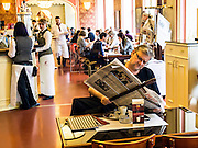 The Cafe Louvre, on Narodni Avenue, is one of the landmarks of Prague's cultural life.<br />  Opened in 1902, Cafe Louvre continuously served as a meeting place of all the literary and science leaders of the Czech Republic.<br />  Amongst its famous visitors were author Franz Kafka, psychologist Josef Eisenmeyer, composer Max Brod and physicist Albert Einstein.