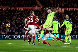 Adam Lallana of Liverpool scores a goal to make it 1-0 - Mandatory by-line: Robbie Stephenson/JMP - 14/12/2016 - FOOTBALL - Riverside Stadium - Middlesbrough, England - Middlesbrough v Liverpool - Premier League