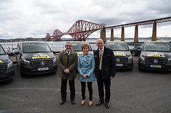 Nicola-Sturgeon, South Queensferry, 28-4-2016<br /> <br /> Stewart Hogie, Nicola Sturgeon and John Swinney<br /> <br /> (c) David Wardle | Edinburgh Elite media