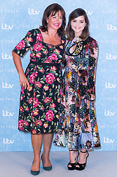© Licensed to London News Pictures. 24/08/2017. London, UK. Series creator DAISY GOODWIN and actress JENNA COLEMAN attends the launch of the ITV series VICTORIA season 2. Jenna plays Queen Victoria in the series. Photo credit: Ray Tang/LNP
