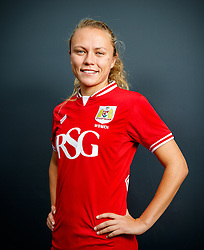 New signing Claire Emslie poses for a portrait - Mandatory byline: Rogan Thomson/JMP - 25/06/2016 - FOOTBALL - Stoke Gifford Stadium - Bristol, England - Bristol City Women's FC New Signing.