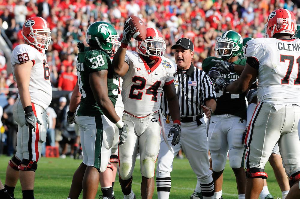 2009 Capital One Bowl: Michigan State Spartans vs Georgia Bulldogs