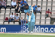 James Vince drives on his way to 50 during the ICC Cricket World Cup 2019 warm up match between England and Australia at the Ageas Bowl, Southampton, United Kingdom on 25 May 2019.