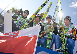 Second placed Poland  at Flying Hill Team in 3rd day of 32nd World Cup Competition of FIS World Cup Ski Jumping Final in Planica, Slovenia, on March 21, 2009. (Photo by Vid Ponikvar / Sportida)