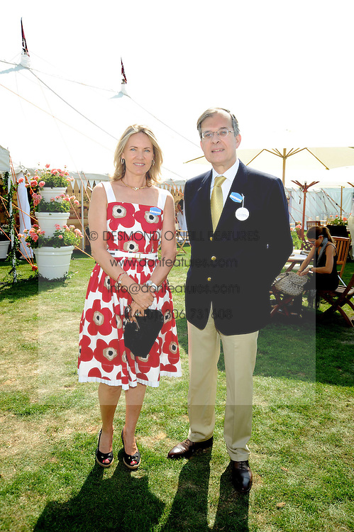 CARLA BAMBERGER and the French Ambassador MAURICE GOURDAULT-MONTAGNE at the Cartier International Polo at Guards Polo Club, Windsor Great Park on 27th July 2008.<br /> <br /> NON EXCLUSIVE - WORLD RIGHTS