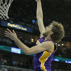 23 December 2008: Los Angeles Lakers forward Pau Gasol (16) shoots during a 100-87 loss by the New Orleans Hornets to the Los Angeles Lakers at the New Orleans Arena in New Orleans, LA. .