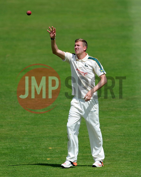 Nottinghamshire's Jake Ball - Photo mandatory by-line: Harry Trump/JMP - Mobile: 07966 386802 - 15/06/15 - SPORT - CRICKET - LVCC County Championship - Division One - Day Two - Somerset v Nottinghamshire - The County Ground, Taunton, England.