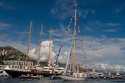 Monaco centenary of Tuiga, flagship of the Monaco Yacht Club the 15 metre IR that, apart from her Fastnet victory, had enjoyed only a modest career, has become, a hundred years after her launch, one the world's most famous sail yachts