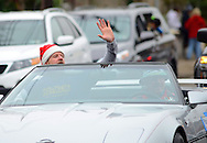 12/1/12 12:22:45 PM - Souderton, PA: .Parade Grand Marshall, Preston Elliot of Philadelphia radio station WMMR waves to the crowd during the Souderton/Telford Holiday Parade December 1, 2012 in Souderton, Pennsylvania -- (Photo by William Thomas Cain/Cain Images)